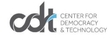 Logo for CDT, the Center for Democracy and Technology